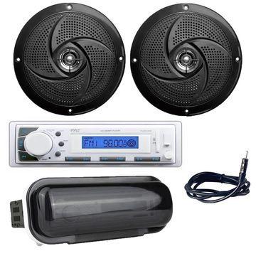Pyle PLMR20W Marine Stereo Radio Headunit Receiver, 4