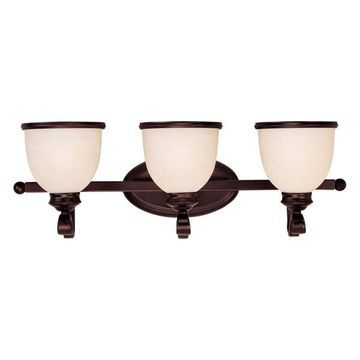 Savoy House Willoughby 3-Light Bathroom Vanity Light in English Bronze