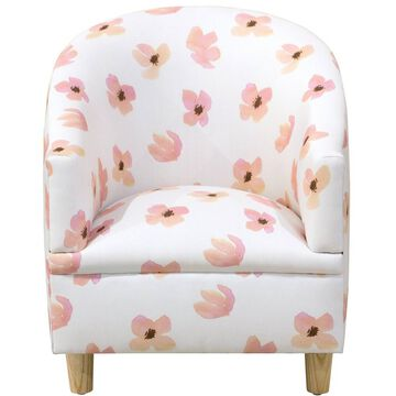 Layla Kids' Chair Floating Petals Pink - Skyline Furniture