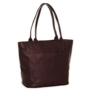 Piel Leather Classic Small Tote Bag in Chocolate