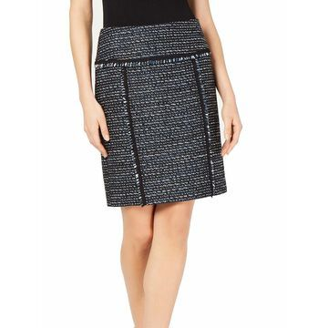 ANNE KLEIN Womens Black Above The Knee Pencil Wear To Work Skirt Size: 12