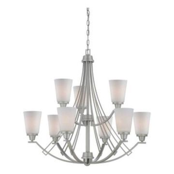Thomas Lighting Wright, Nine Light 2-Tier Chandelier