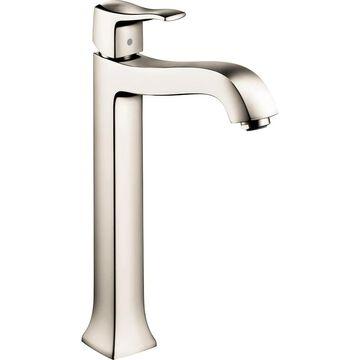 Hansgrohe Metris C Polished Nickel 1-Handle Single Hole WaterSense Bathroom Sink Faucet with Drain   31078831