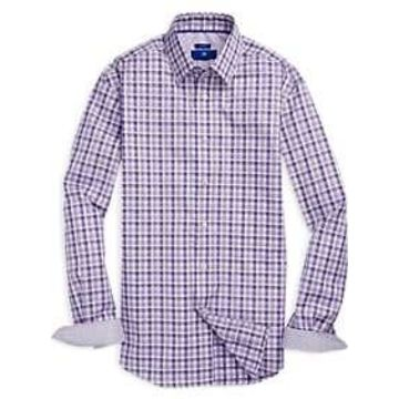 Egara Purple Check Sport Shirt