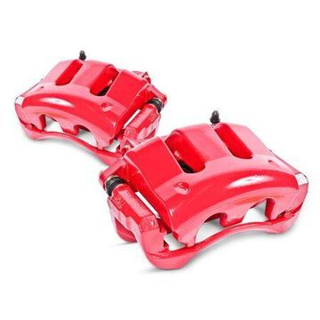 Power Stop S2652 Red Powder-Coated Performance Calipers -Rear