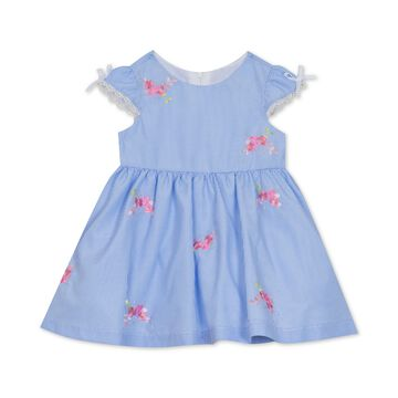 Baby Girls Floral-Embroidered Dress
