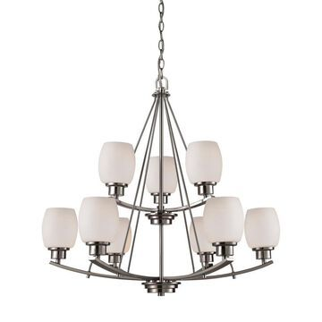 Thomas Lighting Casual Mission 9-Light Brushed Nickel Transitional Chandelier   CN170922