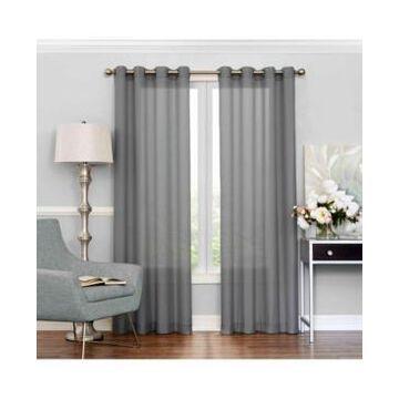 "Eclipse Liberty Light Filtering Sheer Curtain, 63"" x 52"""