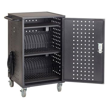 30-Bay Charging Cart, Black