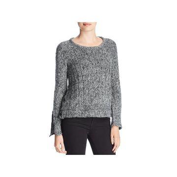 Three Dots Womens Sweater Wool Marled