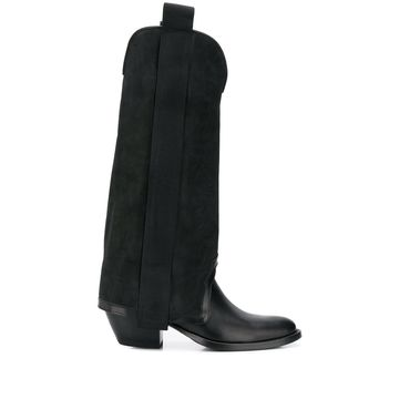 tall panelled boots