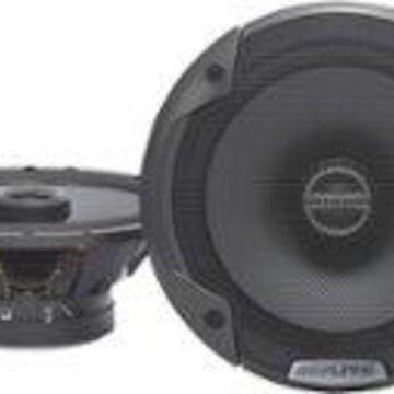 "Alpine - 6-1/2"" 2-Way Coaxial Car Speakers with Polypropylene Cones (Pair) - Black"