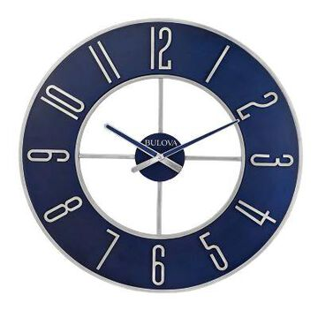 Bulova Blue Steel 27-Inch Round Wall Clock