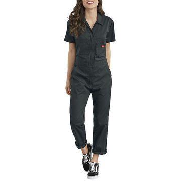 Women's Dickies FLEX Cooling Temp-iQ Short-Sleeve Coveralls, Size: XL, Black