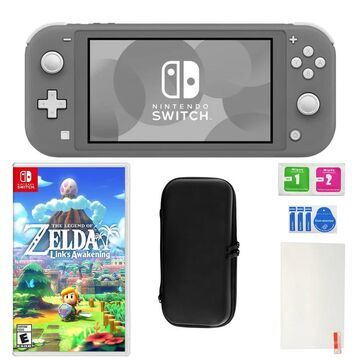 Nintendo Switch Lite in Gray with Link's Awakening and Accessories (N/A - Gray)