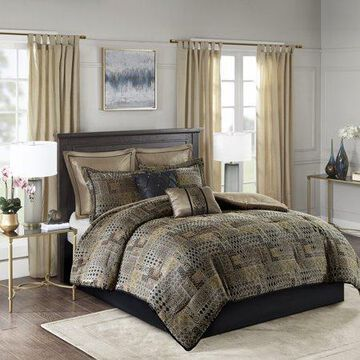 Home Essence Graydon 8 Piece Chenille Jacquard Comforter Set