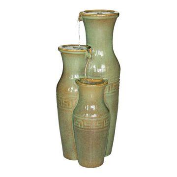 Design Toscano Ceramic Grecian Jars Fountain