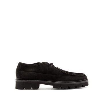 Grenson - Bennett Suede Derby Shoes - Mens - Black