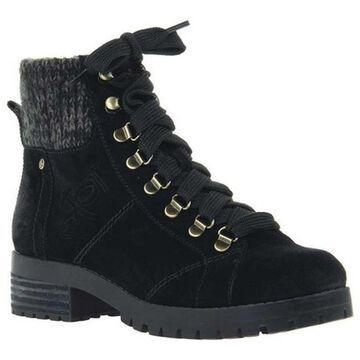 OTBT Women's Lakewood Boot Black Leather/Textile