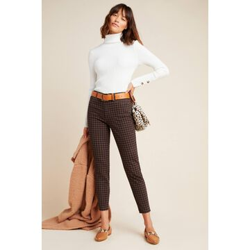 Ella Moss The High-Rise Plaid Skinny Ankle Jeans