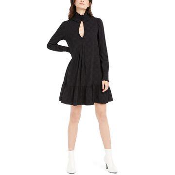 Nanette Lepore Womens Mini Dress Peasant Boho - Black
