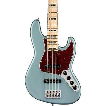 Fender American Elite Jazz Bass V Maple Fingerboard Satin Ice Blue Metallic