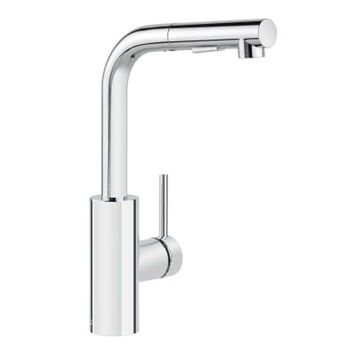 Miseno Mia Polished Chrome 1-Handle Deck-Mount Pull-Out Handle Kitchen Faucet (Deck Plate Included)   MNO64CP
