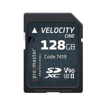 Promaster SDHC 128GB Velocity CINE V90 UHS-II U3 Memory Card (7419)