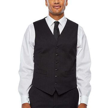 Stafford Super Checked Stretch Suit Vest
