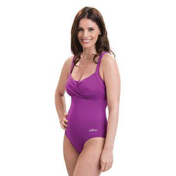 Plus Size Dolfin Aquashape Bust Enhancer Twist Front One-Piece Swimsuit, Women's, Size: 8, Beige