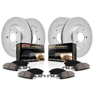 Power Stop Front & Rear Geomet Coated Brake Kit CRK1383