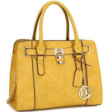 Dasein Medium Satchel Handbag with Shoulder Strap