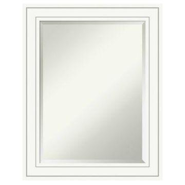 Amanti Art Craftsman Wall Mirror in White