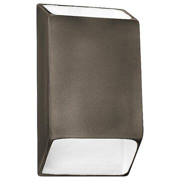 Justice Design Group Ambiance Tapered Rectangle Open Top and Bottom LED Wall Sconce - Color: Silver - Size: Large - CER-5875-ANTS