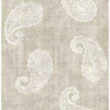 Kenneth James Kashmir Beige Paisley Wallpaper
