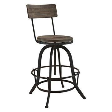 Modway Modway Procure Wood Bar Stool, Brown
