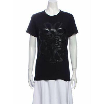 Graphic Print Crew Neck T-Shirt Black