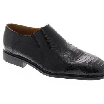 Giorgio Brutini Felix Mens Black Leather Dress Slip On Loafers Shoes
