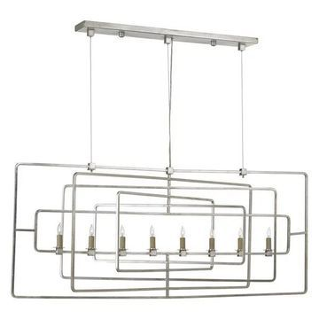 Currey and Company 9836 Metro 8 Light 1 Tier Chandelier - Silver