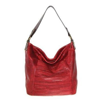 Nino Bossi Women's Jaiden Leather Shoulder Bag Burgundy - US Women's One Size (Size None)
