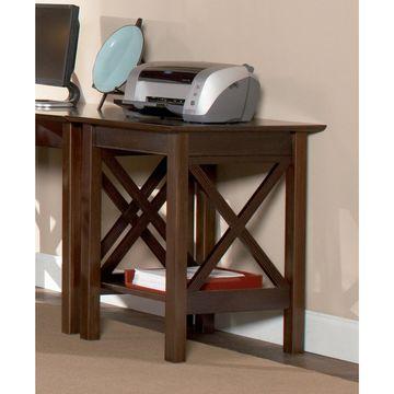Atlantic Furniture Lexi Walnut Wood Printer Stand