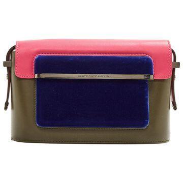 Mary Katrantzou Khaki Leather Handbag