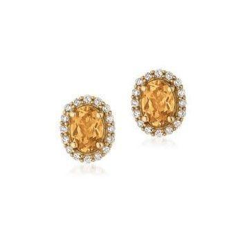 Le Vian Diamond & 14K Yellow Gold Earrings