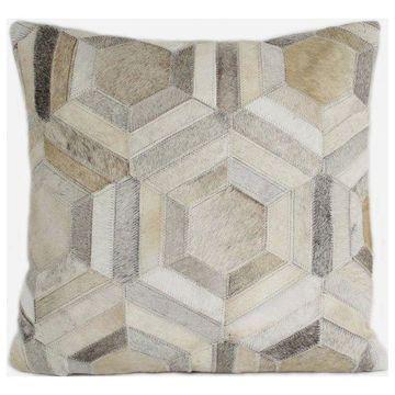 Bashian Marsalis Gray Pillow, 2'x2'