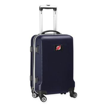 NHL New Jersey Devils 20-Inch Hardside Carry On Spinner in Navy