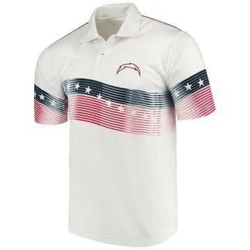 Men's Antigua White Los Angeles Chargers Patriot Polo