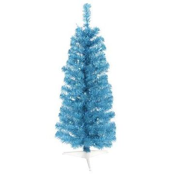 Vickerman 3' Sky Blue Pencil Artificial Christmas Tree with 50 Blue LED Lights