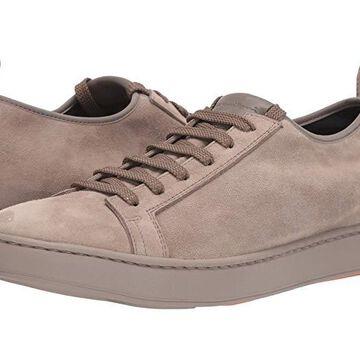 Santoni Cleanic Stretch Suede Lace-Up Sneaker Men's Shoes