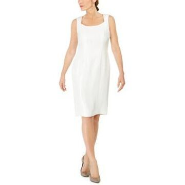 Kasper Square-Neck Sheath Dress