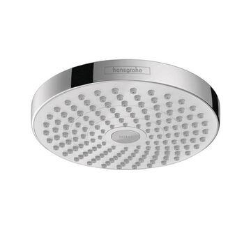 Hansgrohe Croma Chrome/White 2-Spray Rain Shower Head 1.8-GPM (6.8-LPM)